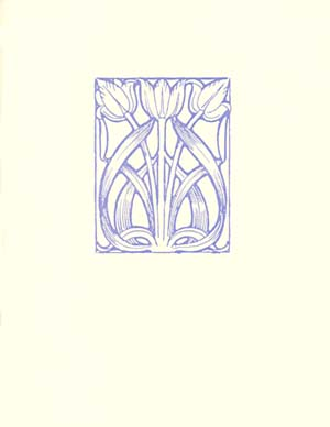 letterpress elegant blank notes periwinkle tulips