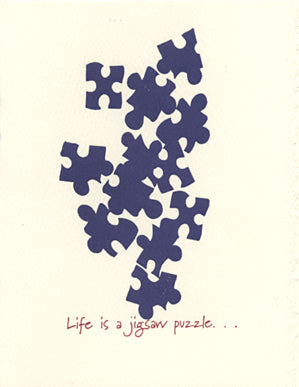letterpress encouragement card jigsaw puzzle