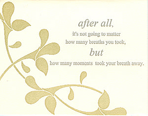 letterpress encouragement card breathe