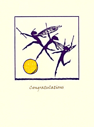 letterpress congratulations card fairies