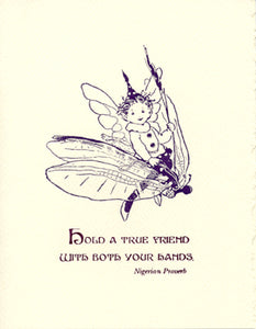letterpress friendship card fairy