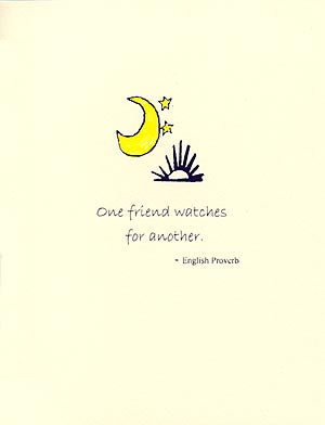 letterpress friendship card friends watch out