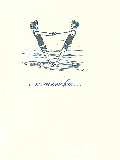 letterpress friendship i remember
