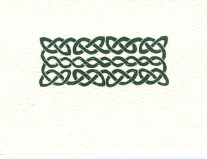 letterpress gift enclosure celtic knot