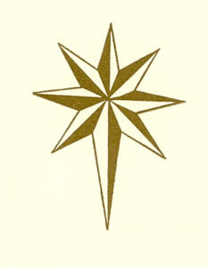 letterpress gift enclosure gold star