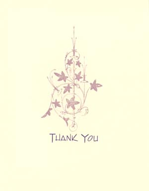 letterpress elegant thank you note pink florette