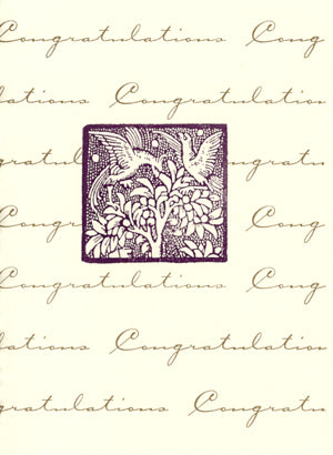 letterpress wedding cards birds