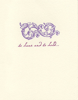 letterpress wedding cards elegant vow