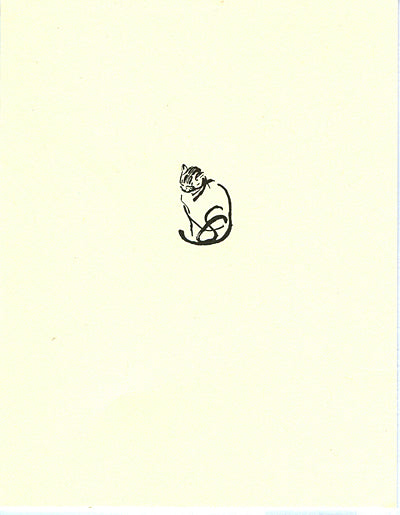 letterpress whimsical blank notes cat