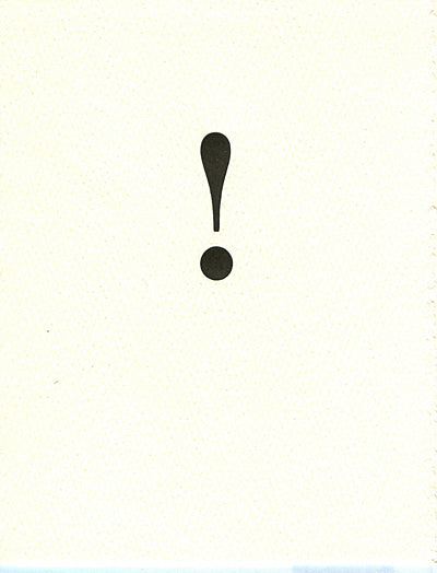 letterpress  blank notes exclamation point