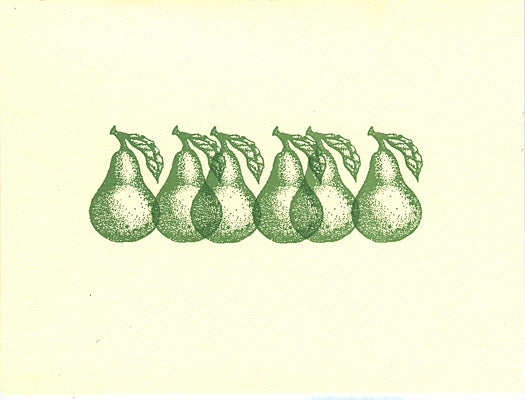 letterpress blank notes pears