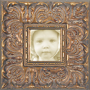 Ornate Picture Frame Antique Gold Wide Baroque