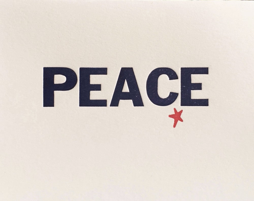 peace on earth letterpress cards