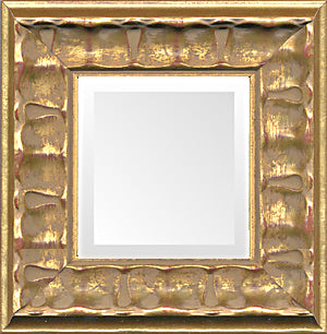 Decorative Gold Piecrust Small Decorative Mirror