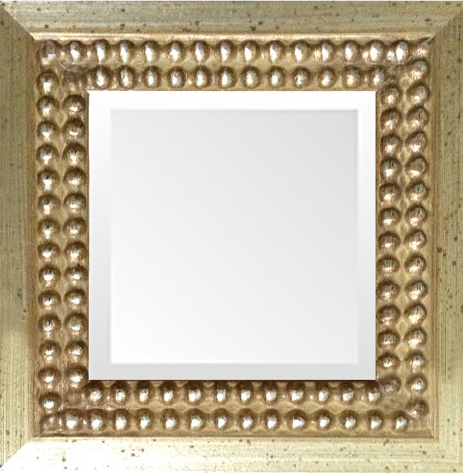 Tuscany Distressed Silver Bead Mirror