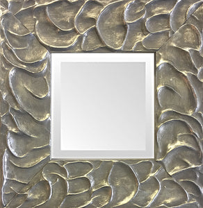 Silver Leaf  Small Decorative Mirror