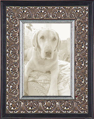 Silver Ornate With Black Decorative Picture Frame