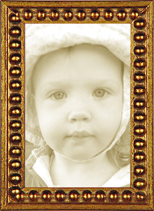 Gold Bead Traditional Picture Frame