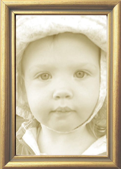 Thin Gold Leaf Contemporary Picture Frame