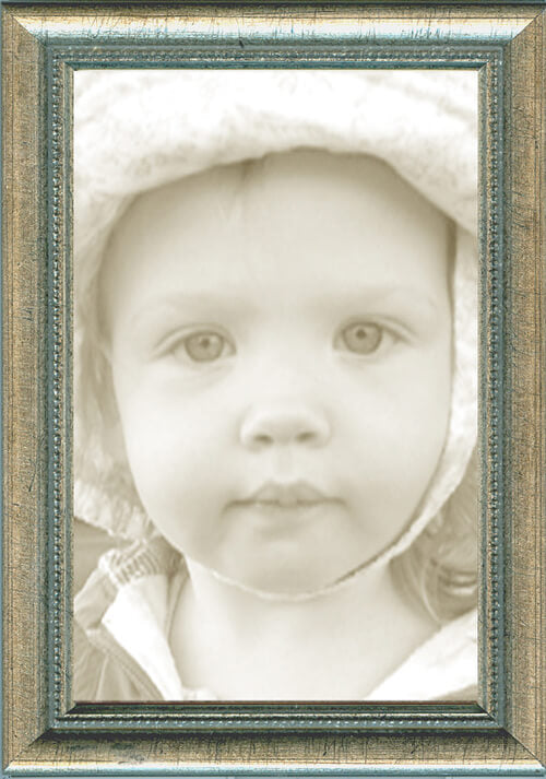 Thin Picture Frames - Silver Bead