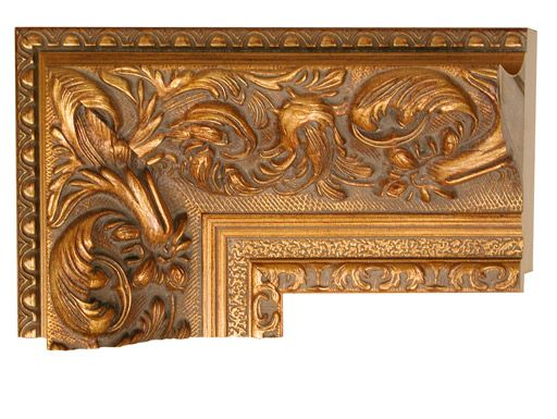 wide baroque carved gold frame mirror