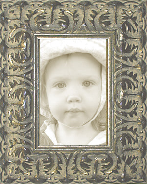 Wide Silver Ornate Wedding Picture Frame