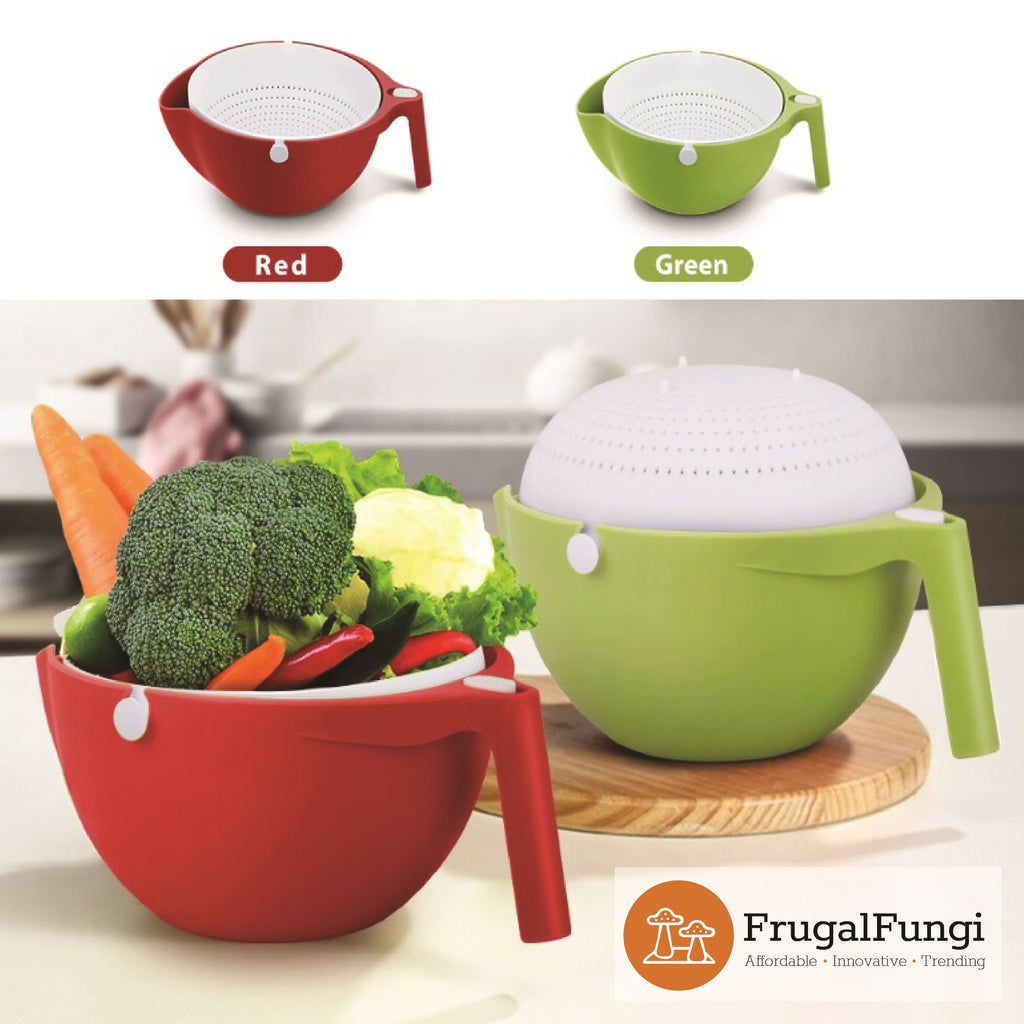 2-in-1 Rotating Colander