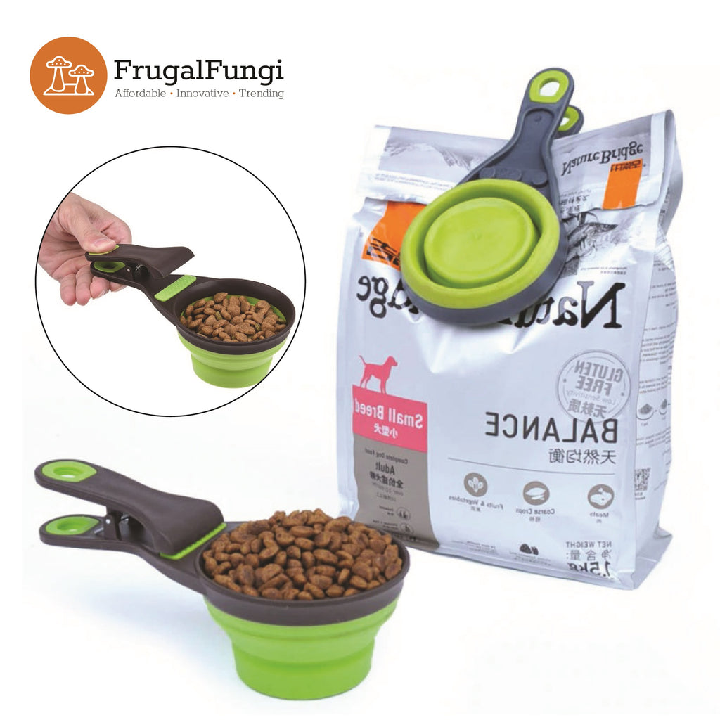 Collapsible Pet Food Bowl and Clip