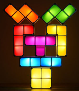 Tetris Inspired LED Desk Lamp