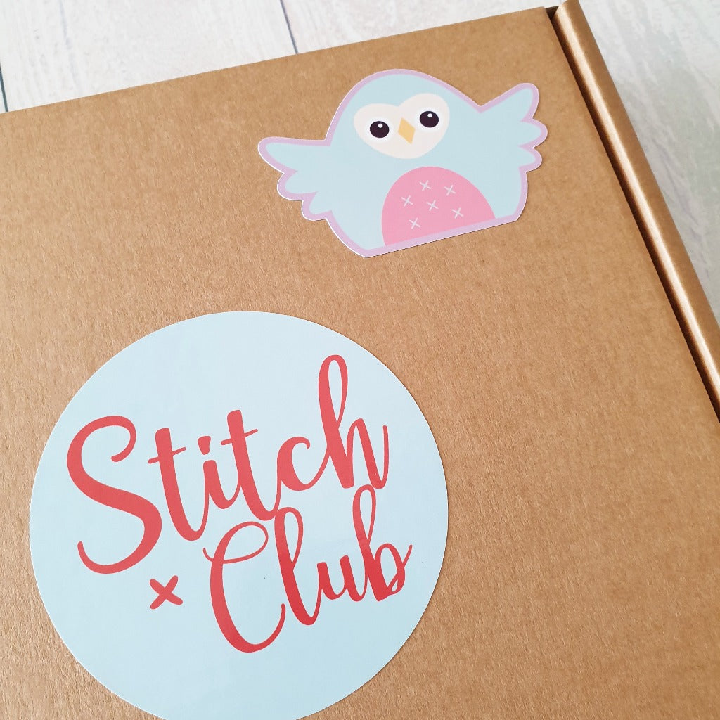 colourful vinyl stickers from stitch club