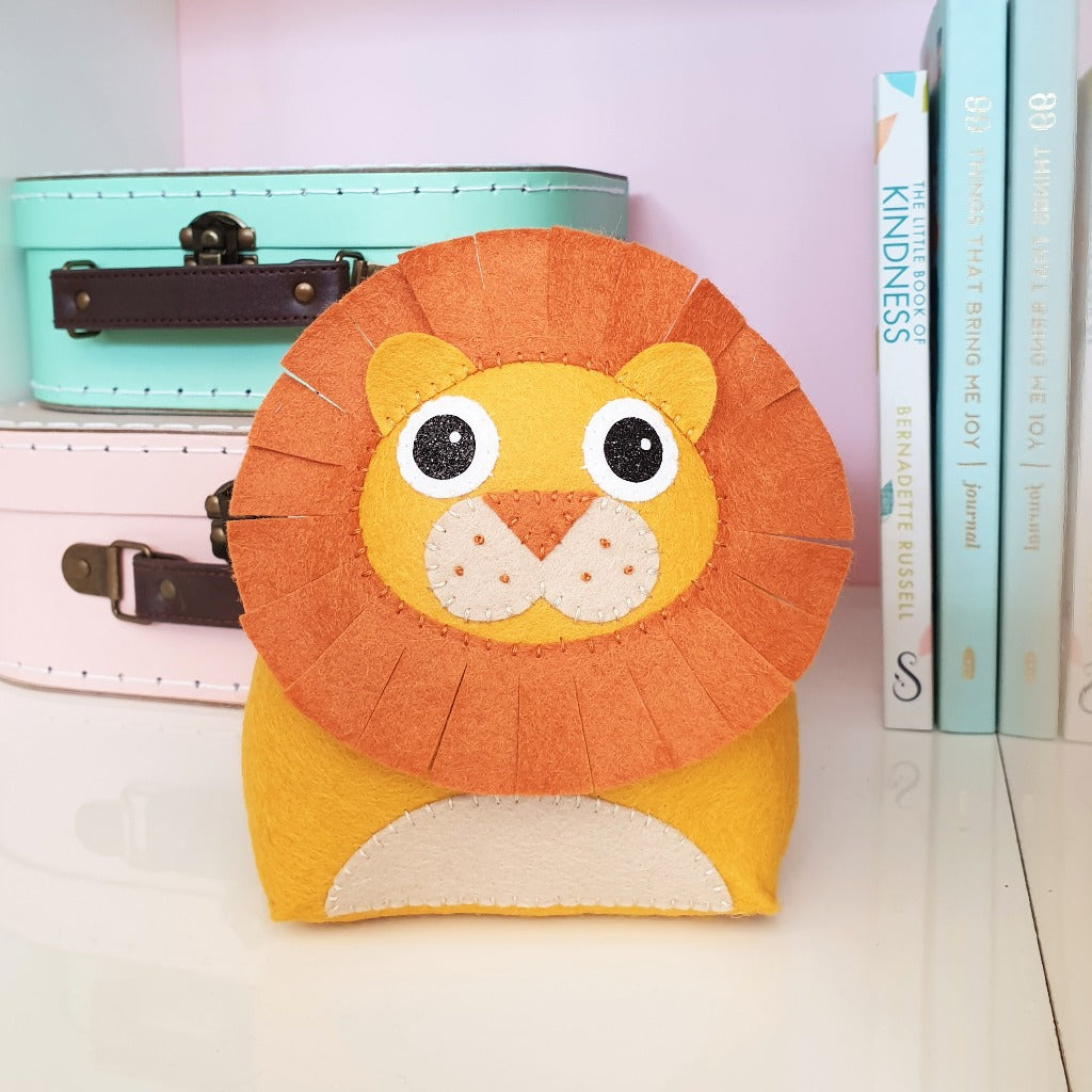 sewing kit for children to make a lion