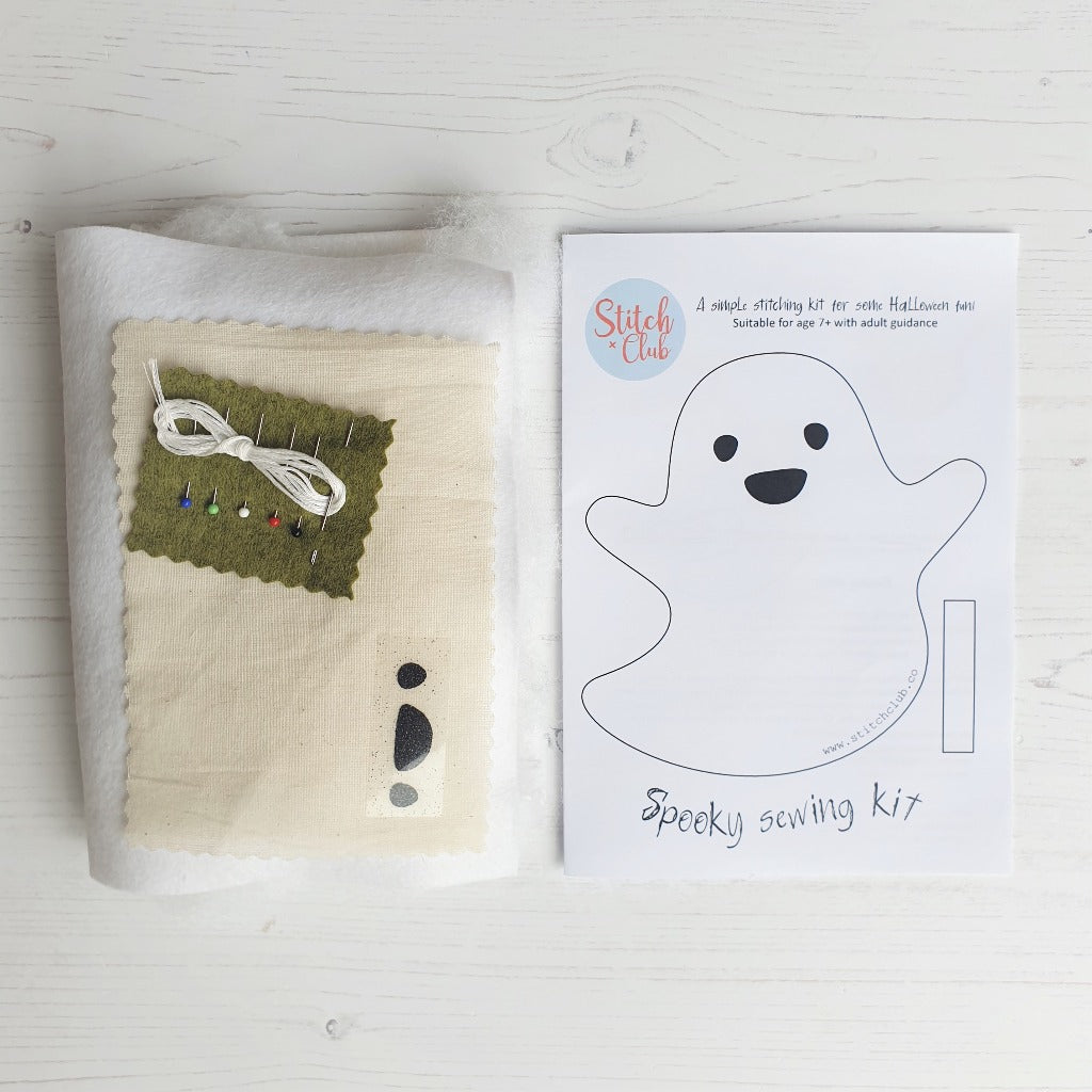 childrens sewing kit for halloween ghost