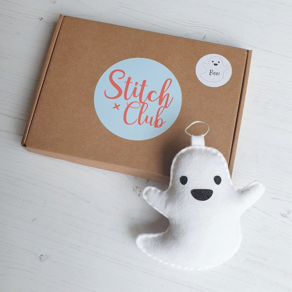 felt ghost sewing kit with box