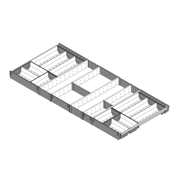 Blum Orga-Line Steel Cutlery Insert 500mm Depth 1200mm Wide