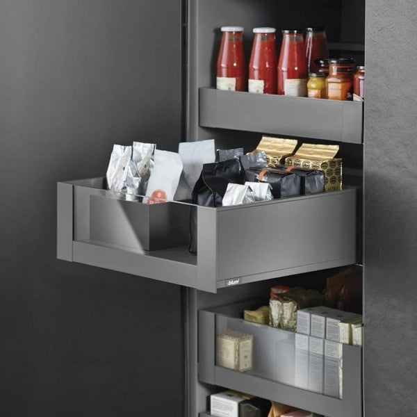 Legrabox Pure - Orion Grey with Clear Glass Element Space Tower - 450mm Depth