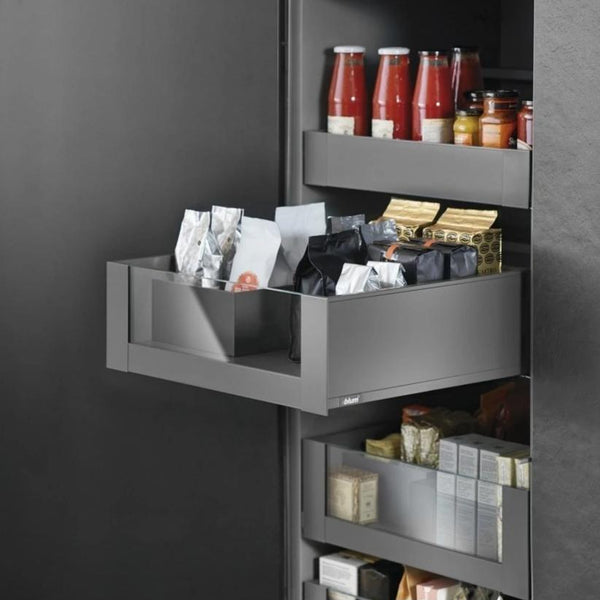 Legrabox Pure - Orion Grey with Clear Glass Element Space Tower - 500mm Depth