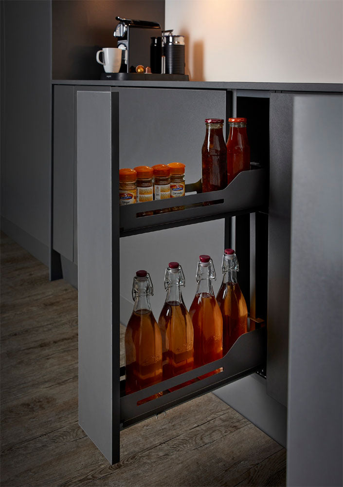 Peka Libell 200mm Base Unit Pull-Out with 2 Shelves