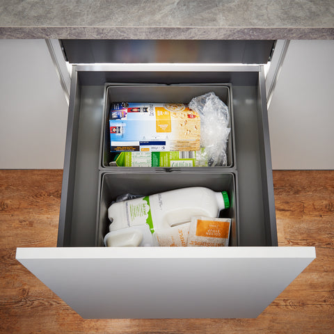 Wesco Pullboy-Z Legrabox 58L 2 Compartment Recycling Bin 500mm Door