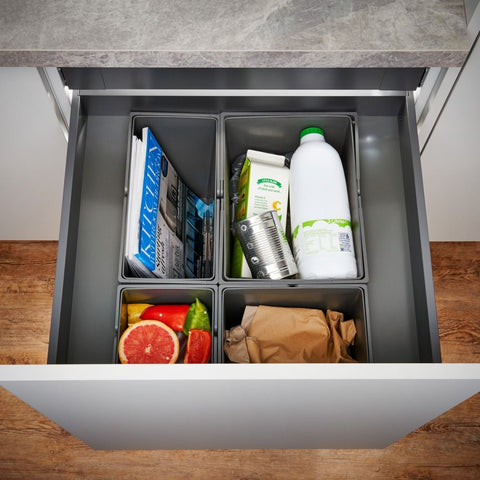 Wesco Pullboy-Z Legrabox 53L 4 Compartment Recycling Bin 600mm Door