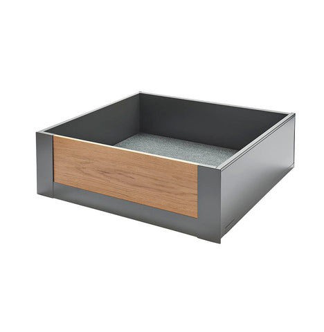Legrabox Pure - Orion Grey with Solid Oak Element Space Tower