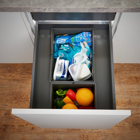 Wesco Pullboy-Z Legrabox 37L 2 Compartment Recycling Bin 450mm Door