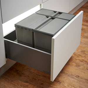 Wesco Pullboy 9XL 37L 2 Compartment Recycling Bin 600mm Drawer
