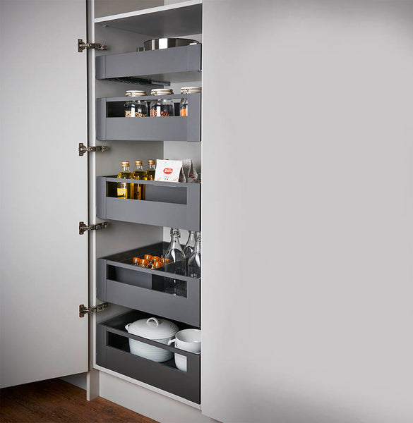 Legrabox Pure -  with Gallery Fascia Space Tower 500mm Depth