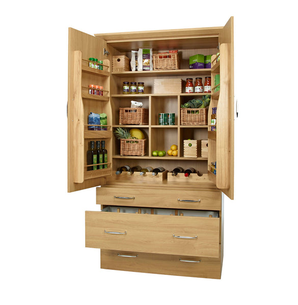 Wooden Larder Accessory Set in Unit Propped