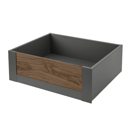 Legrabox Pure - Orion Grey with Solid Walnut Element Space Tower - 500mm Depth