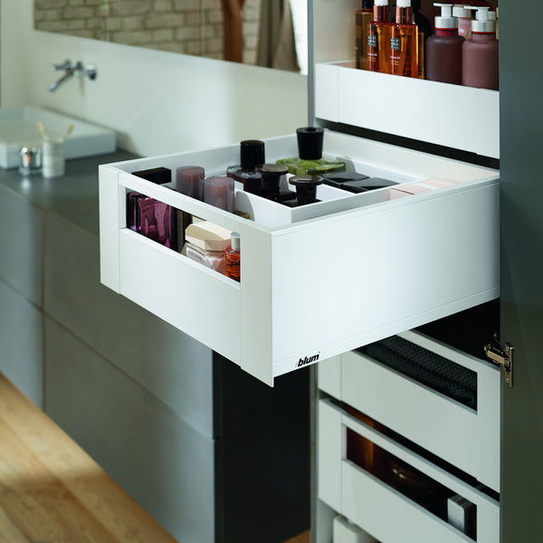 Legrabox Pure - Silk White with Gallery Fascia Space Tower - 500mm Depth