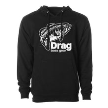Load image into Gallery viewer, Drag Men's Large Mouth Black 8.5oz Hoodie