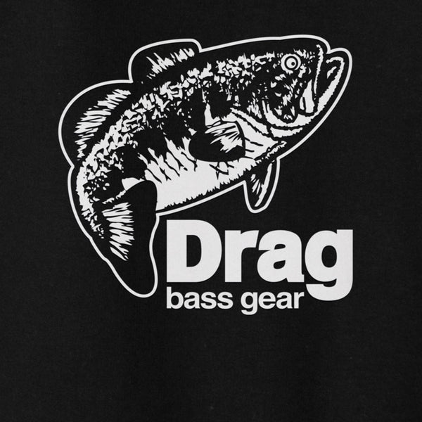 Drag Men's Large Mouth Black 8.5oz Hoodie