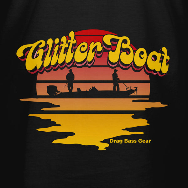 Drag Men's Glitter Boat Black T-Shirt