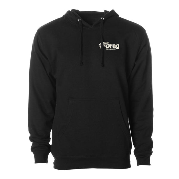 Drag Men's Small Mouth Black 8.5oz Hoodie